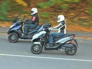 Test Piaggio MP3 300 HPE Sport a 500 HPE Sport Advanced: rodinný tandem